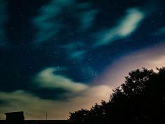 속리산 호텔 옥상에서 별도 찍고 양떼구름도 찍고